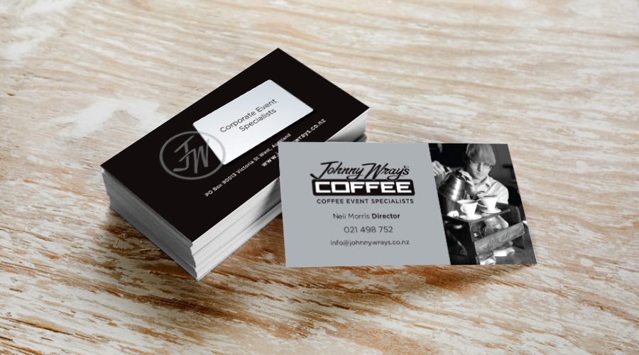 Prd johnny wrays coffee events pocket rocket design business cards reheart Image collections